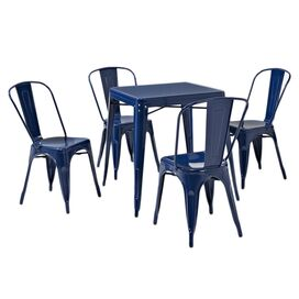 5-Piece Amelia Dining Set in Blue