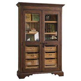 Gloria Display Cabinet in Distressed Molasses