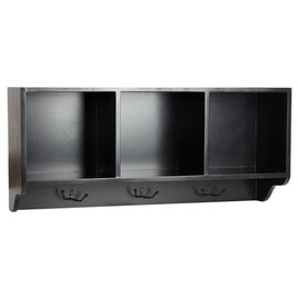 3-Cubby Wall Rack in Black