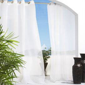 Erica Indoor/Outdoor Curtain Panel in White