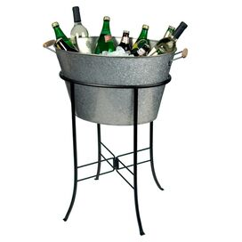2-Piece Somerville Party Station in Silver