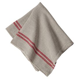 Petra Tea Towel in Red (Set of 4)