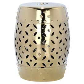 Toulouse Garden Stool in Gold
