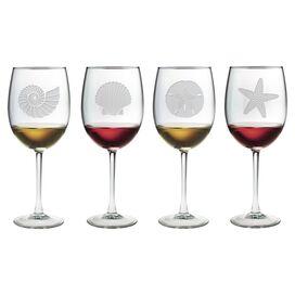 Seashore Wine Glass (Set of 4)