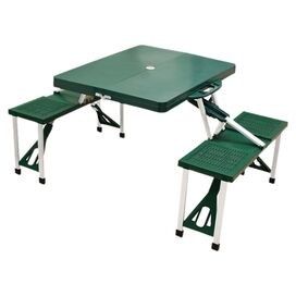 Acadia Portable Picnic Table in Hunter Green