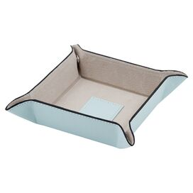 Hughes Leather Valet Tray in Light Blue