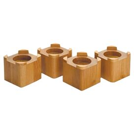 Stacking Wood Bed Riser in Honey (Set of 4)