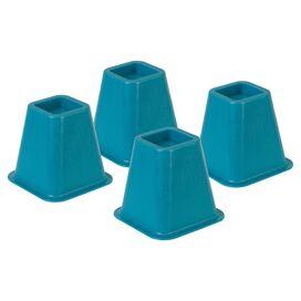 Bed Riser in Blue (Set of 4)
