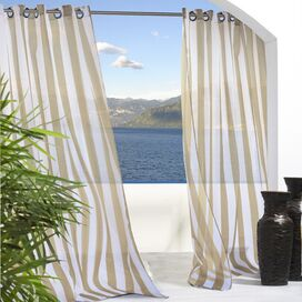 Evelyn Indoor/Outdoor Curtain Panel in Khaki