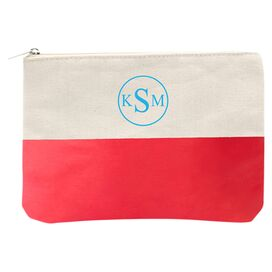 Personalized Color-Block Clutch in Coral