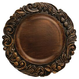 Nina Charger Plate in Brown