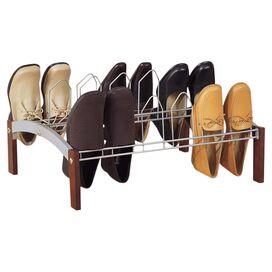 Arched 9-Pair Shoe Rack