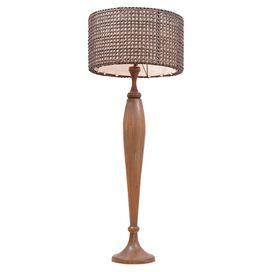 Natalie Teak & Rattan Floor Lamp