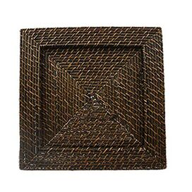 Madeline Rattan Charger Plate in Brown (Set of 4)