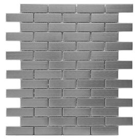 Metro Stainless Steel Subway Tile (Set of 10)