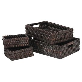 4-Piece Wicker Basket Set