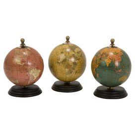 Globe Statuette (Set of 3)