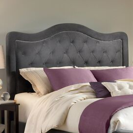 Trieste Upholstered Headboard in Pewter