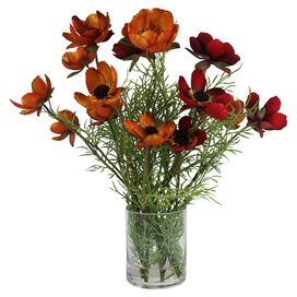 Faux Red & Orange Poppy