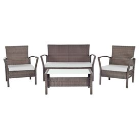 4-Piece Avon Rattan Patio Set in Grey