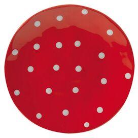 Sprinkle Dinner Plate in Red