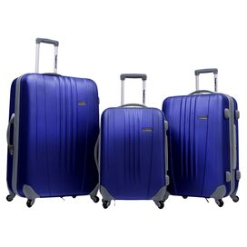3-Piece Toronto Rolling Luggage Set in Navy