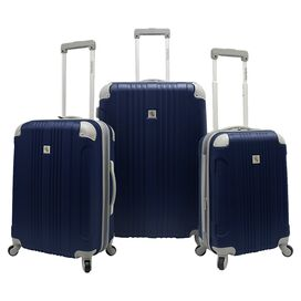 3-Piece Newport Rolling Luggage Set in Navy