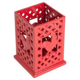 Red Rooster Utensil Holder