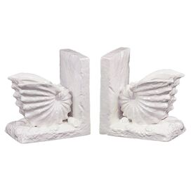 Nautilus Bookends in White