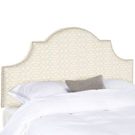 Hailey Upholstered Full Headboard in Wheat & Pale Blue