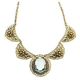 Mila Necklace in Gold & Aqua