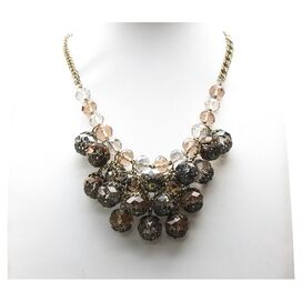 Saundra Necklace in Brown