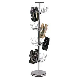Davidson 24-Pair Shoe Rack in Chrome