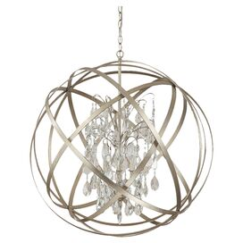 Bruna 6-Light Pendant in Winter Gold