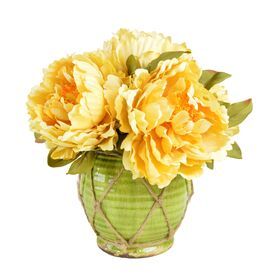 Faux Golden Peony