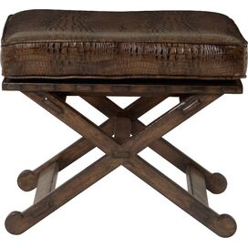Verity Leather Bench