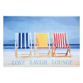 Love Laugh Lounge Canvas Print