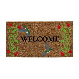 Hummingbirds Welcome Doormat