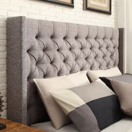 Declan Upholstered Headboard in Dark Gray
