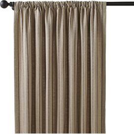 Striped Rod Pocket Curtain Panel