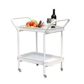 Malibu Indoor/Outdoor Serving Cart in White