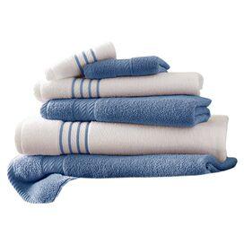 6-Piece Striped Egyptian Cotton Towel Set