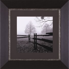 Fence in the Mist Framed Print