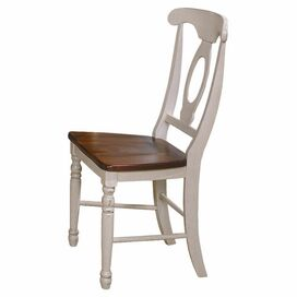 Napoleon Side Chair in Buttermilk & Merlot