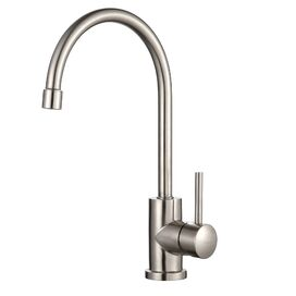 Single Handle Kitchen Faucet in Stainless Steel