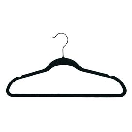 Marion Velvet Hanger in Black (Set of 200)