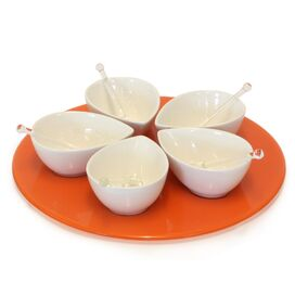 11-Piece Droplet Condiment Server