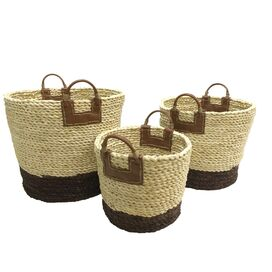 3 Piece Maize Rope Basket Set