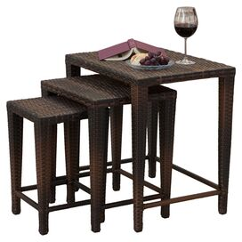 3-Piece Emmie Wicker Nesting Table Set