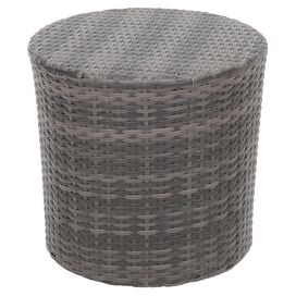 Sampson Indoor/Outdoor Side Table in Grey